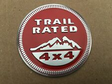 NEW JEEP RED TRAIL RATED 4X4 I TRUNK TAILGATE I FENDER EMBLEM BADGE LOGO