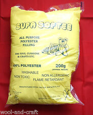 SUPA SOFTEE ALL PURPOSE 100% POLYESTER TOY CUSHION FILLING STUFFING APPROX 200G