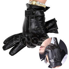 Fashion Winter Warm Men Motorcycle Full Finger Faux Leather Touch Screen Gloves