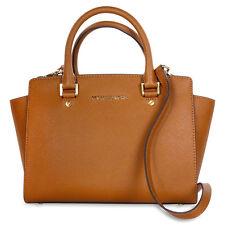 Michael Kors SelmaSaffiano Leather Medium Satchel - Luggage