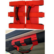 2 x Red Roll Bar Grab Handles For 1995-2017 Jeep Wrangler JK Unlimited 2/4 door