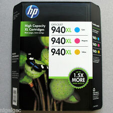 SET 3 HP 940XL HP940XL INKS CYAN C4907AE MAGENTA C4908AE YELLOW C4909AE ORIGINAL
