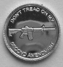 (100) 1 GRAM .999 PURE SILVER AR-15 SECOND AMENDMENT ROUNDS