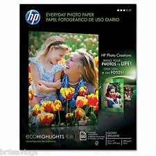 "HP Everyday Glossy Photo Paper 50 Ct 8 1/2""x 11"" HEWQ8723AND - Brand New Item"