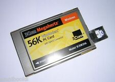 3Com Megahertz PCMCIA 56k Win Modem PC Card with XJACK 3CXM356