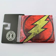 Cool !! Justice League The Flash Coin Pocket PU Purse/Wallet No Box