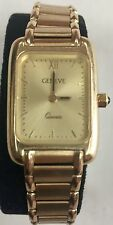 GENEVE Quartz Ladies 14k Solid Yellow Gold Dress Watch GREAT Condition