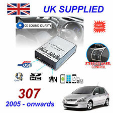 Peugeot 307 05-MP3 USB SD CD AUX Ingresso Adattatore Audio Digital CD Changer modulo