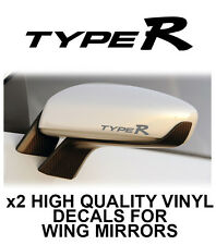 TYPE R WING SIDE MIRROR DECALS STICKERS VINYL Adhesive Graphic decals X2
