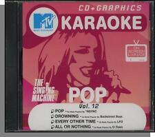 Karaoke CD+G - MTV Pop Hits Vol 12 - New Singing Machine CD! All or Nothing