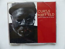 CD 2 titres Promo CURTIS MAYFIELD Just a little bit of love PRO 6231 PRCD 444