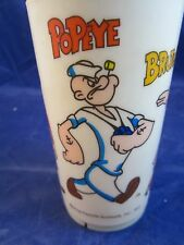 Popeye Brutus Sweet-pea Wimpy Olive Oil vintage plastic cup 1971