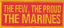 THE FEW,THE PROUD,THE MARINES EMBROIDERED MILITARY MOTORCYCLE MC VEST PATCH L-19