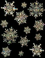 Large Irresdescent Snowflake Christmas Decorations (DP58)