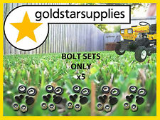 GREENFIELD RIDE ON MOWER  bolts, nuts, washers x 5 pair (suits GT2139 blade)
