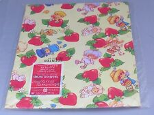 Vintage Strawberry Shortcake Gift Wrap Wrapping Paper MIP - Tea N Honey