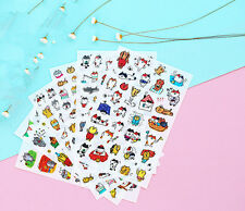 6 Sheets Cartoon cat expression diary Decorative transparency Diary Sticker