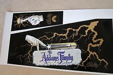 Addams Family Gold screen printed cabinet decal set, PERFECT!