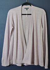 NEW EILEEN FISHER Merino Rib Knit Sleeve Open Front Cardigan Size M
