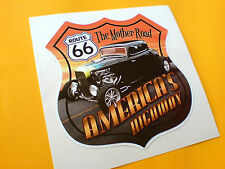 ROUTE 66 AMERICAS HIGHWAY Car Hot Rod Motorhome Sticker Decal 1 off 85mm