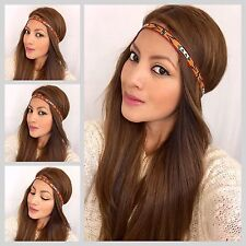 Women's Embroidered Tribal Headband Hair Band Boho Band Hippie Style