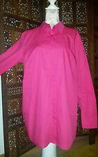 NEU  MARINA SPORT Marina Rinaldi Long-Bluse pink Cotton 48/50 ,eggshape 100%Co