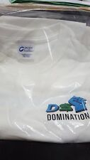 Womens Tee Shirt Large Short Sleeve White DSD DS Domination Logo Saying Dropship
