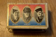 WW2  RAF Army Royal Navy - Deepest Gratitude - 1943 - Celluloid Matchbox Holder