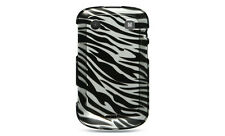 For Blackberry Bold 9930 9900 Protector HARD Case Snap Phone Cover Silver Zebra