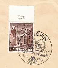 Germany Thorn Stamp Day 1941 Wehrmacht Battle Tank Cancel Cover 9w