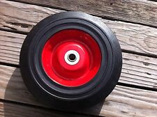 "NEW 6"" SOLID WHEEL RUBBER WAGON HAND TRUCK DOLLY BARROWWHEEL FLAT FREE"