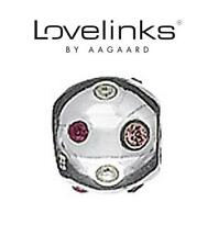 Genuine LOVELINKS 925 sterling silver clear & clear Swarovski ball charm bead