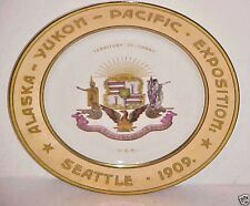 1909 SEATTLE ALASKA - YUKON - PACIFIC EXPOSITION  PLATE  BY SYRACUSE CHINA