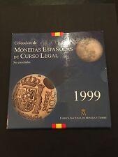 ESPAÑA 1999,CARTERA DE MONEDAS,8 MONEDAS UNC,