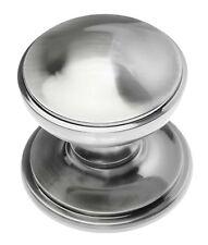 Victorian pewter/fumé chrome centre pull porte bouton (PF16)