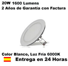 Downlight LED Slim extraplano 18W, 20W Blanco 6000K 1600Lm. Reales 120 LEDS