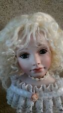 "Mohair Doll Wig, Kate 11-12"" . Big Head. Discontinued  Great Color, Honey Blonde"