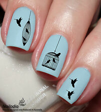 Bird Cage Nail Art Sticker Water Transfer Decal Tattoo 35