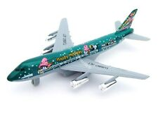 Kids Holiday Aeroplane Toy Turbo Jet Airliner Green 18cm Die cast Metal Plane