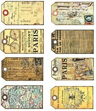 French Selection Gift Tags - Also great for Scrapbooking  Card Making etc