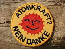 ECUSSON PATCH THERMOCOLLANT aufnaher toppa ATOMKRAFT NEIN DANKE antinucléaire
