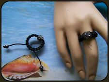BAGUE SHAMBALLA GRISE ANTHRACITE