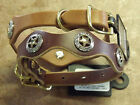 WEAVER LEATHER SUNRISE OR RICH BROWN LONE STAR LEGEND LEATHER DOG COLLARS