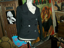 NORMA KAMALI  Cool Jet Black Coat Size M
