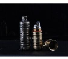 Torpedo Shape Mini Flint Wick Kerosene Cigarette Lighter with Keychain Handy