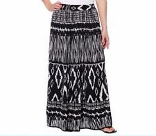 NWT Chaudry Women's Long Length Pull On Boho Peasant Gypsy Skirt