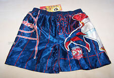 Sydney Roosters NRL Boys Blue Satin Boxer Shorts Size 4 New