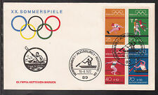 A-23) Germany 1972  - OLYMPIC GAMES MUNICH FROM STAMP BOOKLET H-BL-22