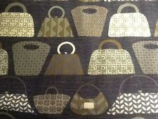 Purses Galore FQ or more Michael Miller Fabric 100% Cotton Grey Black