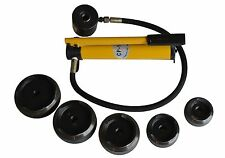 """15T Hydraulic Knockout Punch Hand Pump 5 Dies Hole Tool Hydraulic Opener 4"""""""